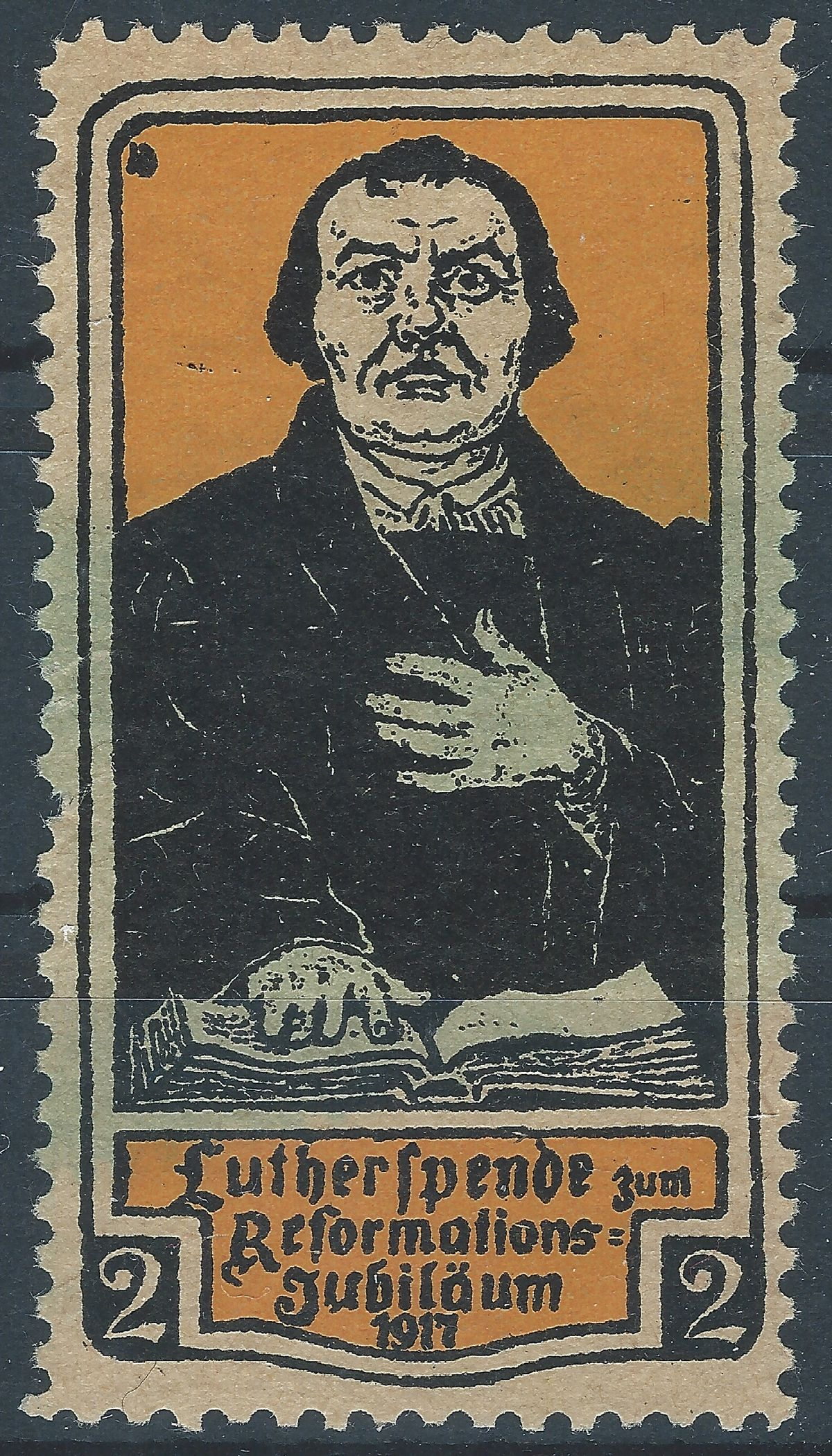 Luther Briefmarken, Vignette, Reklamemarke, Werbemarke, Martin Luther, Wormser Dom,
