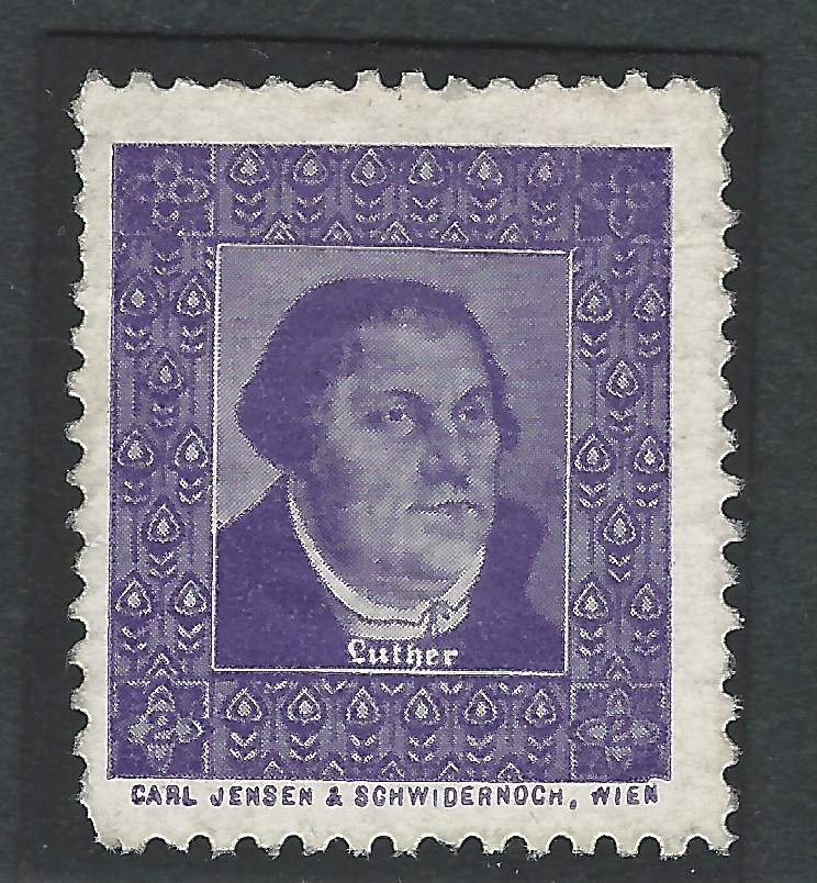 Werbemarke, Vignette, Reklamemarke, Luther Briefmarken, Martin Luther