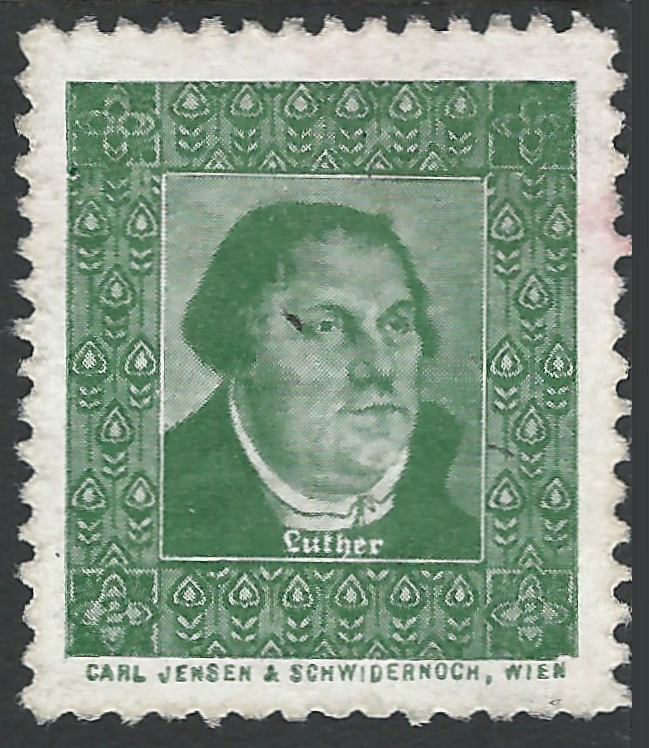 1900 - 1920, Vignette, Martin Luther, Wien, Werbemarke, Luther Briefmarken