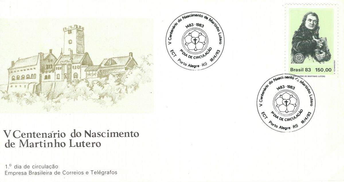 1983.04.18_Brasilien_FDC Luther