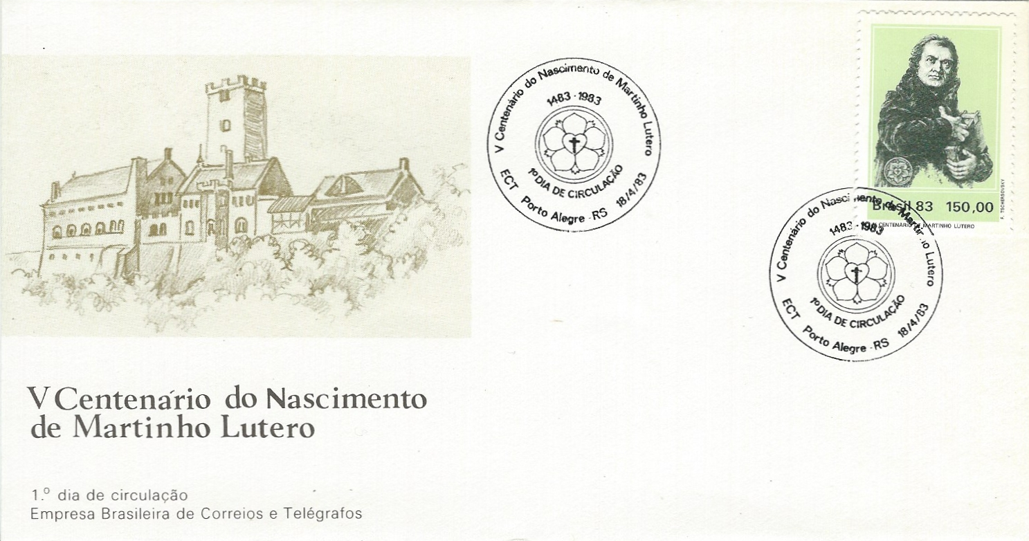 1983.04.18_Brasil_Luther_FDC_ETST