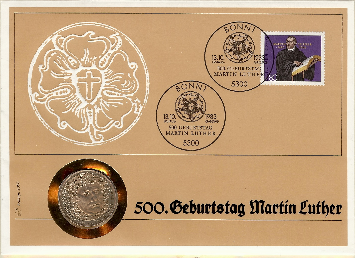 1983.10.13_BRD_FDC_Michel_1193_MARTIN LUTHER WORBES NR. 42