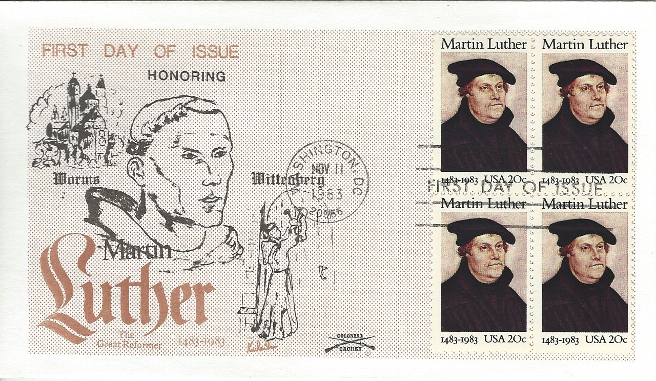 MARTIN LUTHER, Religious Reformer, Special Cancel w/ Enclosure, WITTENBERG Univ.