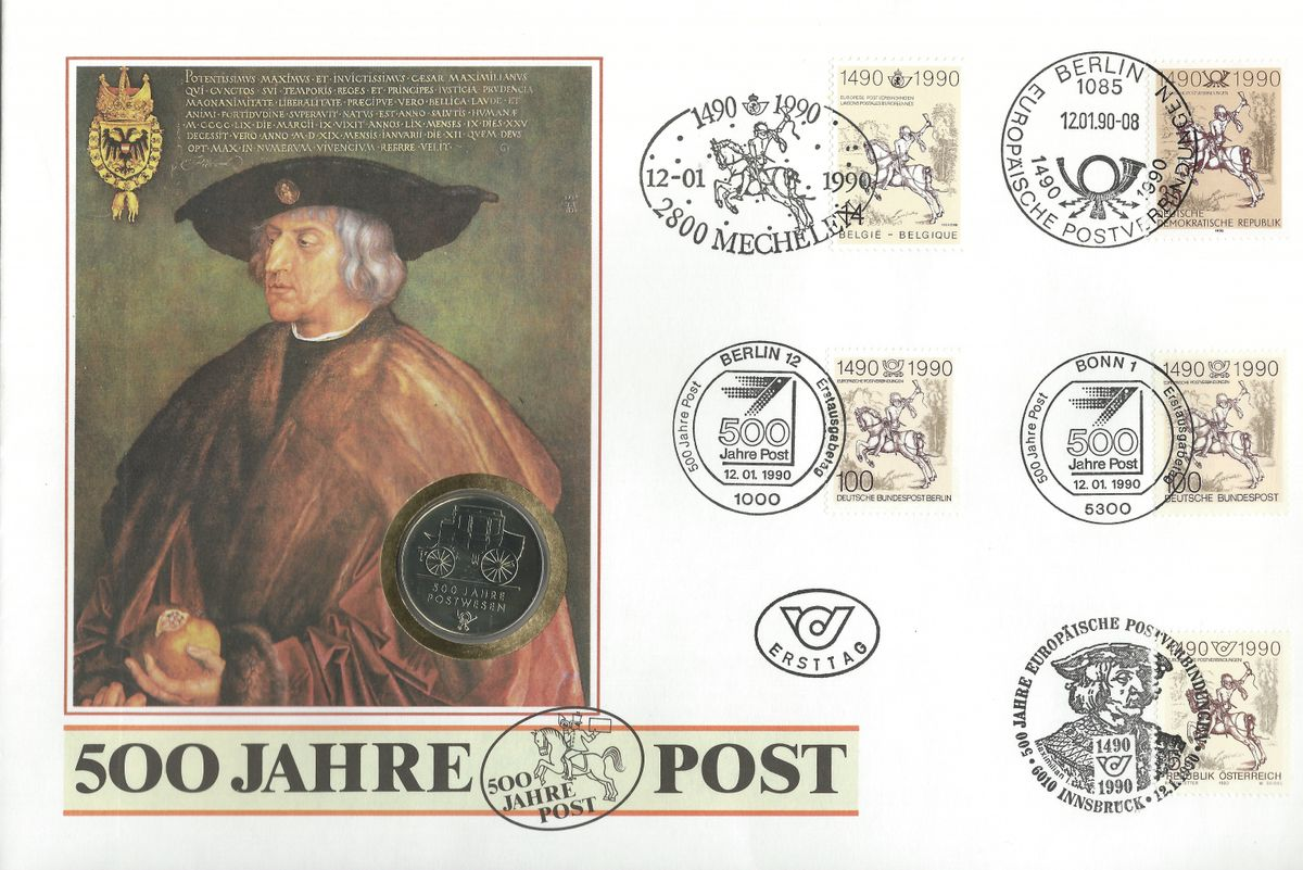 1990.01.12_500 Jahre Post FDC