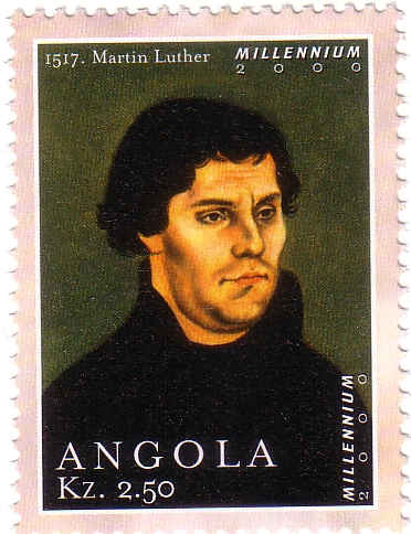 2000_Angola MNH, Martin luther, German monk, priest, professor of theology & iconic f