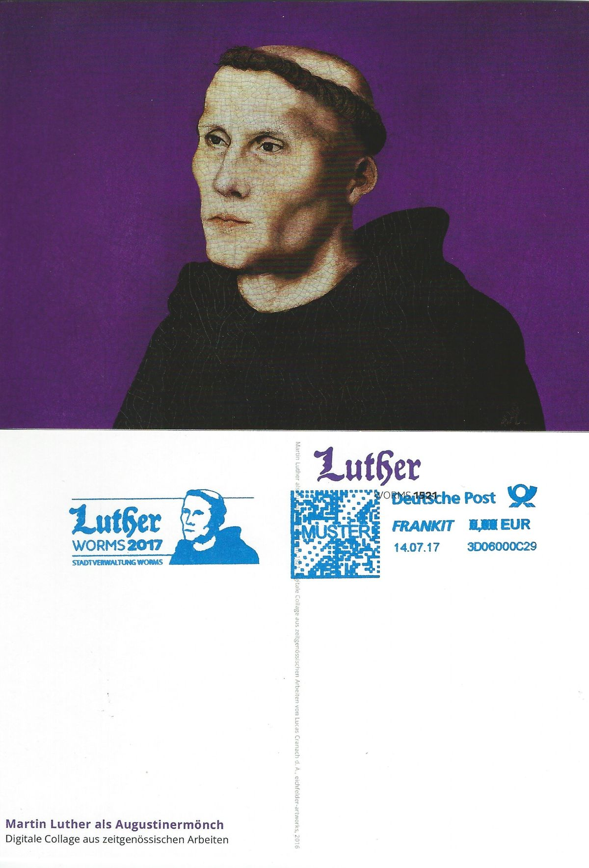 2017.07.14_Worms_Maschinenstempel_Testdruck auf Postkarte_MartinLuther
