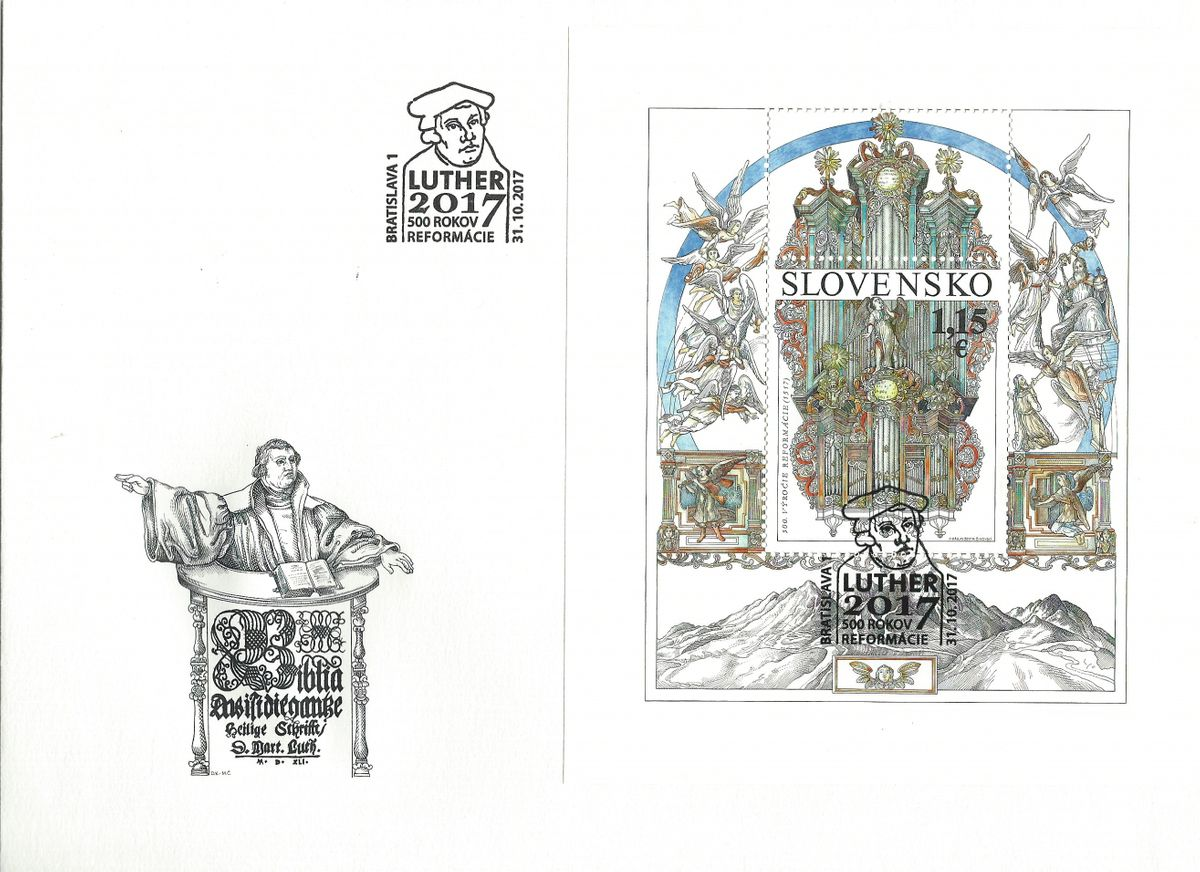 2017.10.31_Slovakia_Martin Luther_The 500th Anniversary of the Reformation.Special Cover