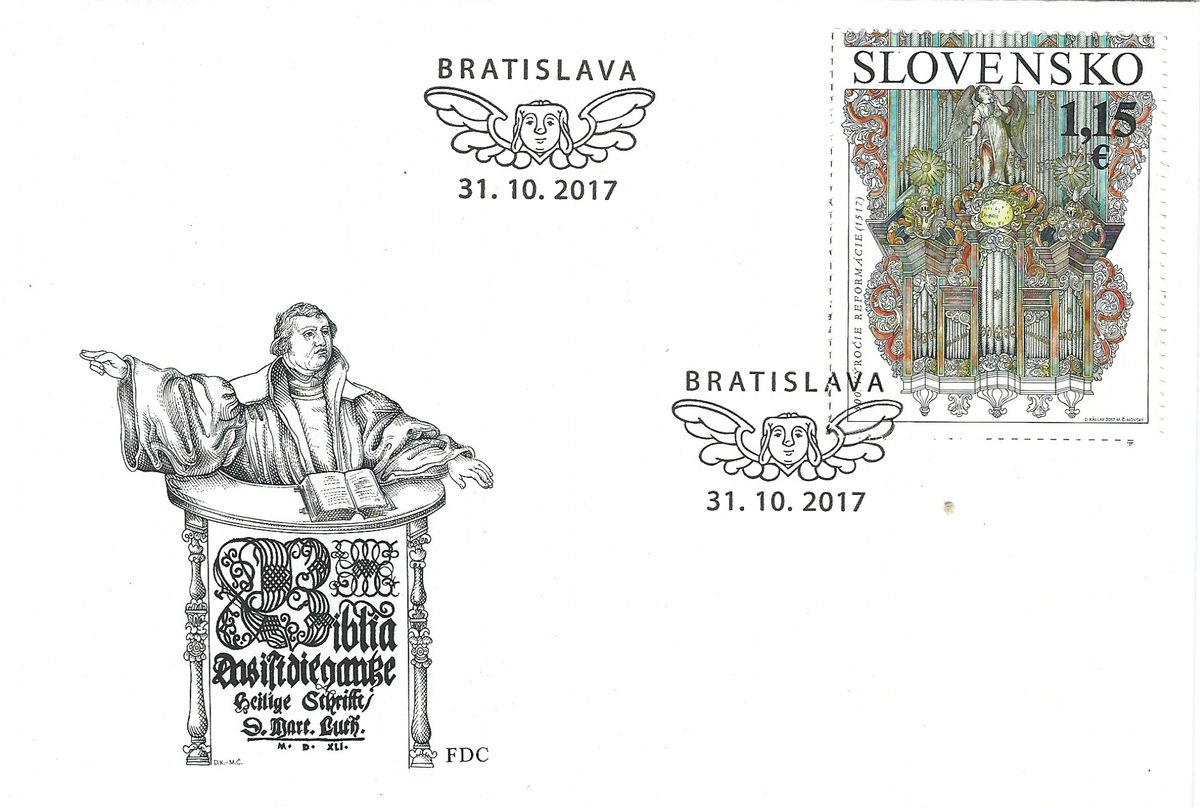 2017.10.31_Slovakia_Martin Luther_The 500th Anniversary of the Reformation_FDC