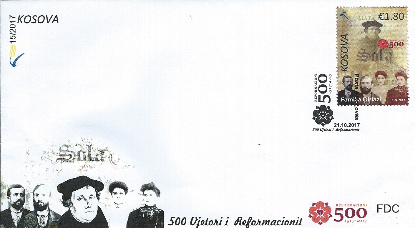 2017.10.21_Kosova_FDC_500 Jahre reformation_Luther