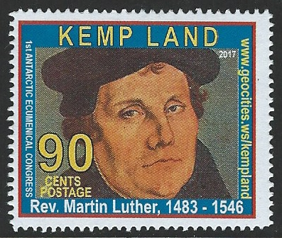 Ökumenischer Kongress, Kemp Land, Calvin, William Booth, Joseph Smith, Luther, Luther Breifmarken